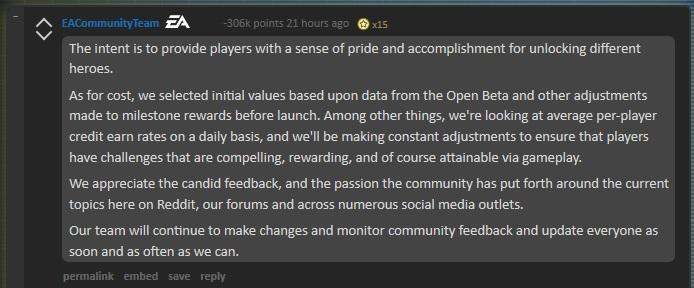 EA pride and accomplishment