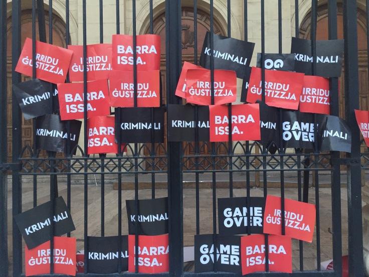 Panama paper protest Malta