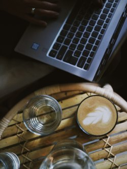 laptop and latte