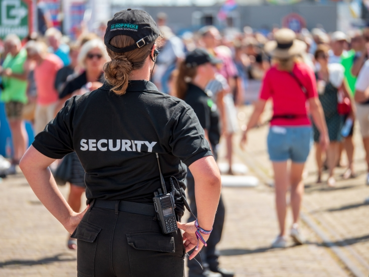 female security at event